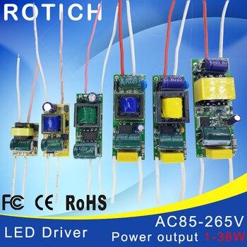 1-3 W, 4-7 W, 8-12 W, 15-18 W, 20-24 W, 25-36 W HA CONDOTTO il driver di alimentazione built-in costante corrente di Illuminazione 85-265 V di Uscita 300mA Trasformatore