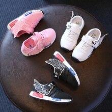 2016 automne nouveaux enfants de sport chaussures garçon runing chaussures fille chaussures étudiants respirant sneakers ailes de bande dessinée maille chaussures 16A12