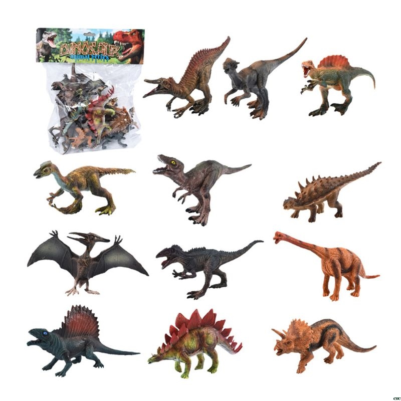 12pcs Lifelike Simulated Solid Dinosaur Model Figures Educational Toy For Kids Boy Children Gift