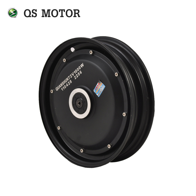 QS Motor 10*2.15inch Single Shaft 800W 205 30H V2 BLDC In Wheel Electric Scooter Hub Motor