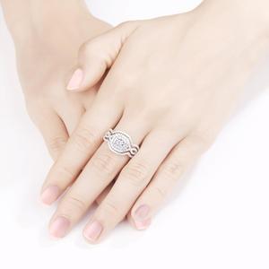 Image 5 - Newshe 3Pcs 여성을위한 925 스털링 실버 결혼 반지 2.1Ct AAA CZ 약혼 반지 세트 클래식 쥬얼리 크기 5 12