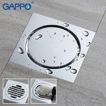 GAPPO дренаж квадратный напольный дренаж крышка для ванной комнаты дренажный сток для душевой комнаты
