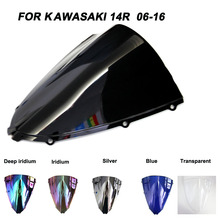 Windshield For Kawasaki Ninja ZX14R ZX 14R ZX-14R 2006-2016 2007 2008 2009 2010 Windscreen Wind Deflectors Motorcycle Motorbike high quality cnc floating front brake disc rotors for kawasaki ninja zzr1400 zx14r zx 14r zx1400 zx 1400 1400cc 2006 2007