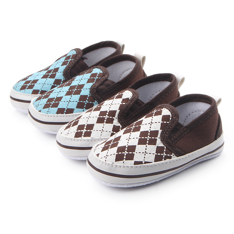 Factory Direct Baby Shoes Silk Screen Checkered Baby Feet Shoes New Hot Sale Toddler Shoes Newborn Baby First Walker