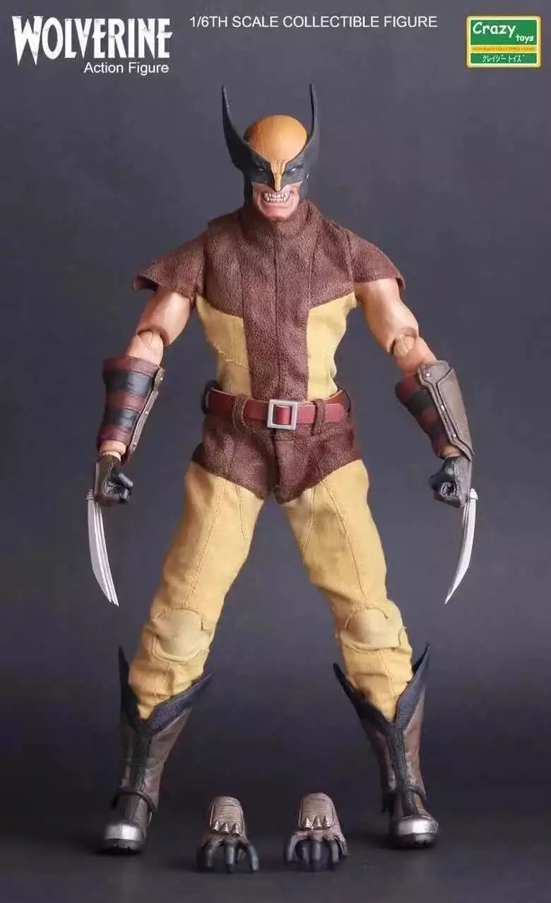 Crazy Toys 1:6 X-men Marvels Super Hero Wolverine Logan PVC Action Figure Collectible Model Toy Christmas Gift 26cm crazy toys 16th super hero wolverine pvc action figure collectible model toy christmas gift halloween gift