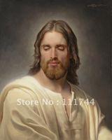 Peinture de jésus christ Portrait art Le Oint Par Joseph Brickey toile Haute qualité 100% à la main shippi gratuit