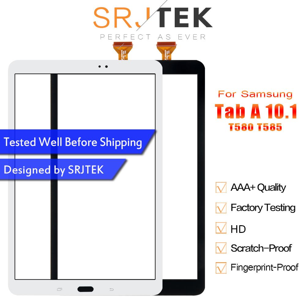 Srjtek For Samsung Galaxy Tab 10.1 T580 T585 Touch Screen Digitizer Panel Tablet