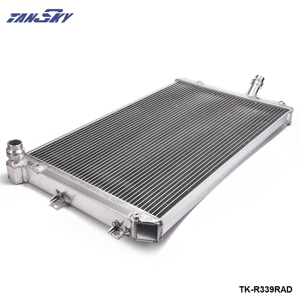For Volkswagen VW Golf GTI MK5 06-10 MT/Manual Two Row Aluminum Cooling Radiator TK-R339RAD tansky 42mm 2 row performance aluminum radiator for nissan skyline r33 r34 tk r106rad