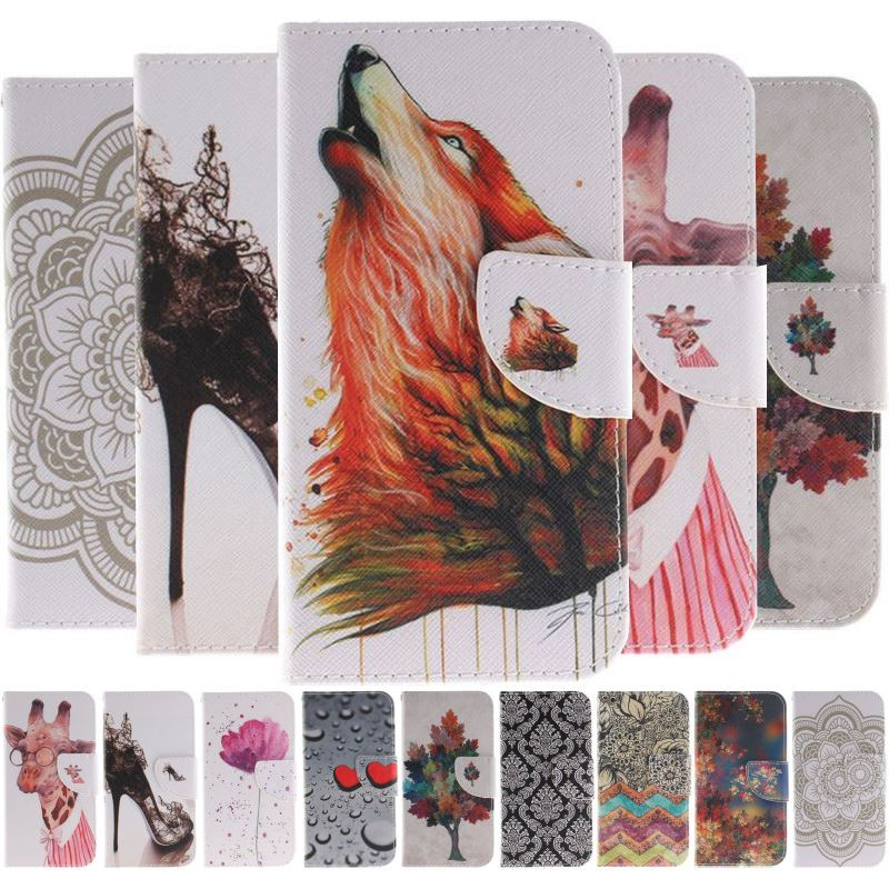 Wolf Orchid Totem Flower Case For Samsung Galaxy j3 j5 j7 2017 2016 S9 S8 A6 Plus S7 S6 Edge S5 Mini Wallet Stand Cover DP26F
