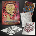 Hot Chinese Typical Traditional Figures Design Colorful Collection Tattoo Flash Sketch Book A3 Page Size 57 Pages Manuscript