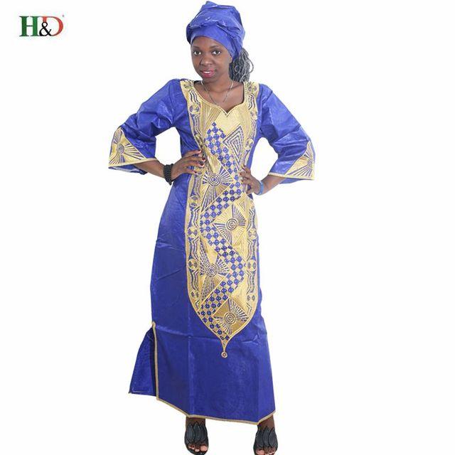 Robes africaines pour les femmes 2018 NOUVEAU DESIGN DE MODE AFRICAINE  NOUVELLE BAZIN RICHE BRODERIE ROBE