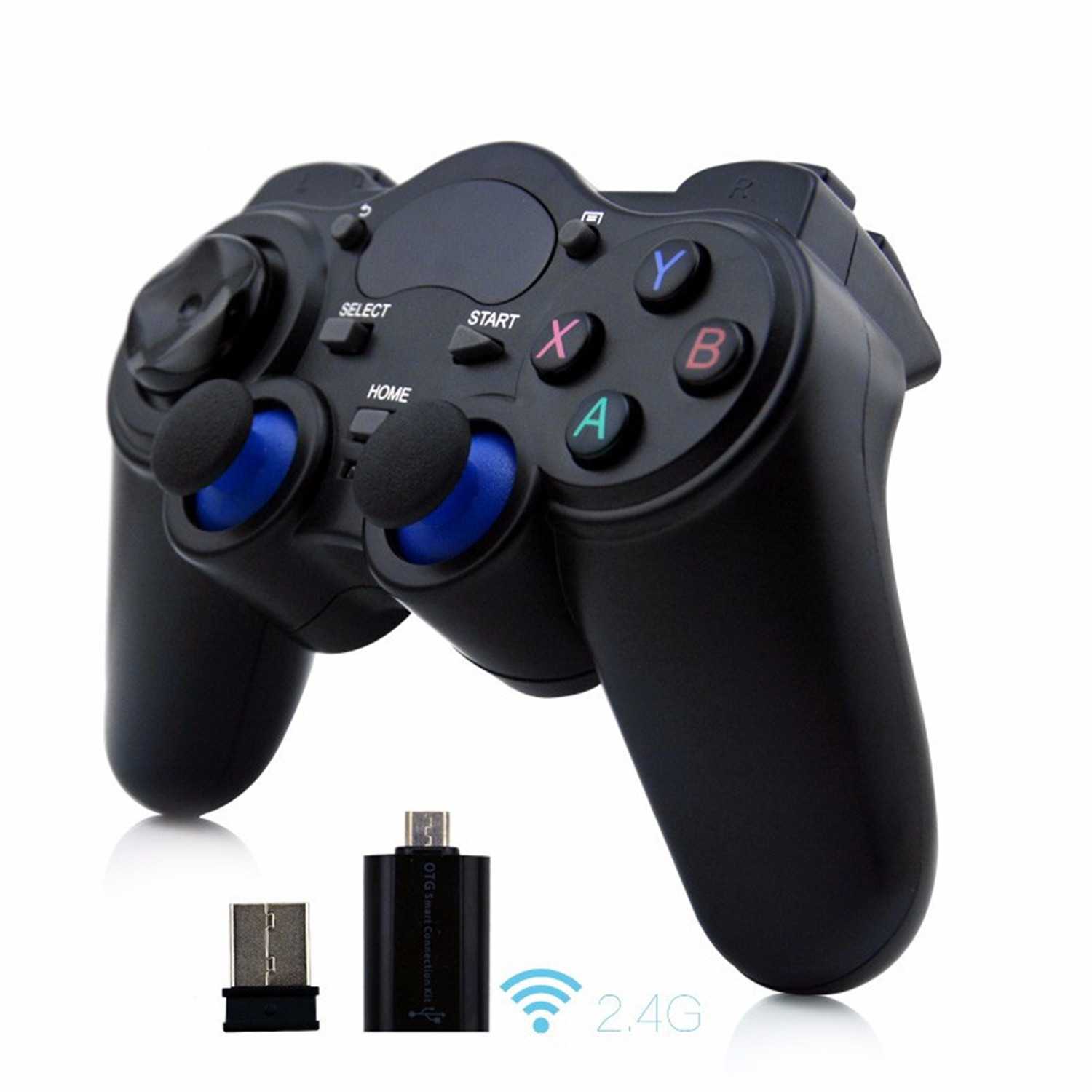 2.4g wireless Android controller Game Gamepad Joystick for ps3 controller Android TV Box Tablets PC GPD XD With USB Receiver