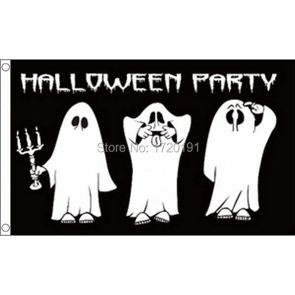 5/' x 3/' FLAG HAPPY HALLOWEEN Witch Bats Pumpkin Party ft Flags 150 X 90cm New