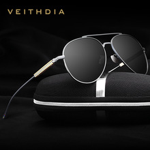 6696 veithdia moda unisex marca diseñador hombres gafas de sol polarizadas espejo masculinas gafas de sol de aluminio para wommen hombres