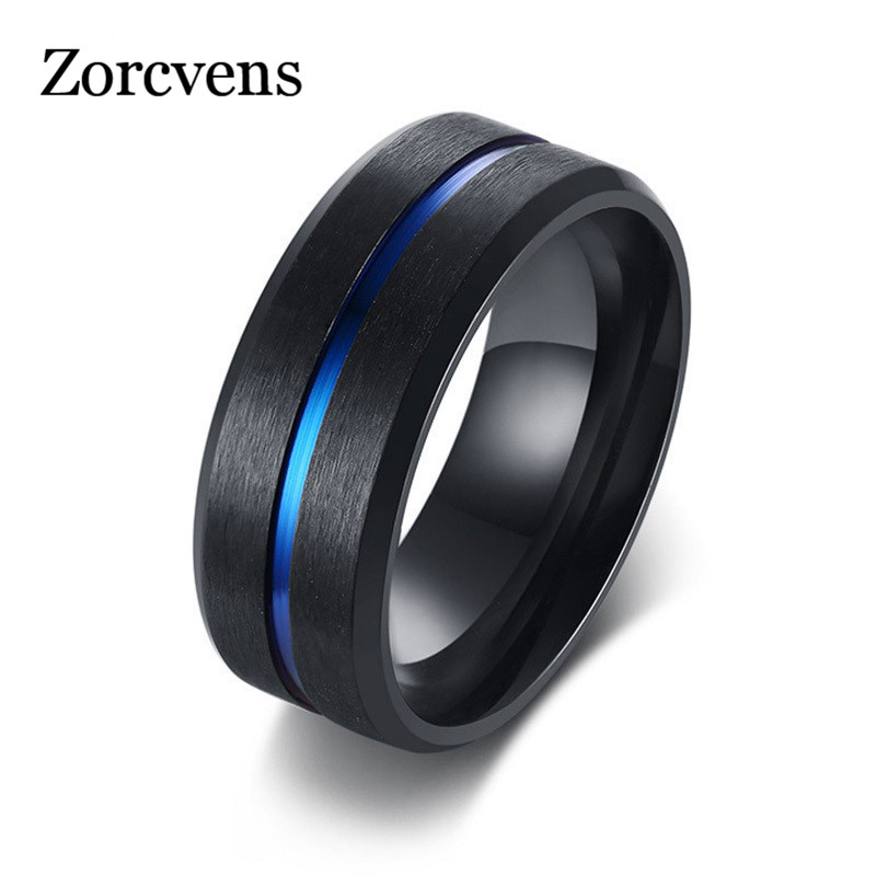 Realistic Zorcvens Cool Spinner Cross Rings For Men Black Tone Stainless Steel Engraved Bible Prayer Male Finger Anel Gifts To Ensure A Like-New Appearance Indefinably Rings