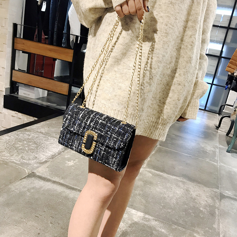 Women Fashion Small Flap Party Bag Lady Messenger Chain Single Shoulder Luxury Handbags Designer Girl Crossbody Ladies Bags in Shoulder Bags from Luggage Bags