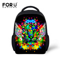 3D Animal Lion Leopard Cat Printing Boys Girls School Bags Mini Children Bookbag Baby Kids Schoolbags Sac a Dos Mochila Todder