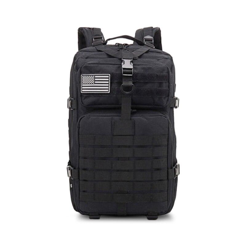 Black-50L Softback Outdoor Waterproof Men Travel Camping Backpack Bag