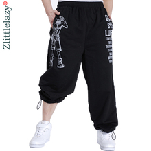 2020 Casual Mens Joggersพิมพ์Baggyแฟชั่นHip HopชายJoggerกางเกงเปิดAir SweatpantsกางเกงPantalon Homme 5XL a10