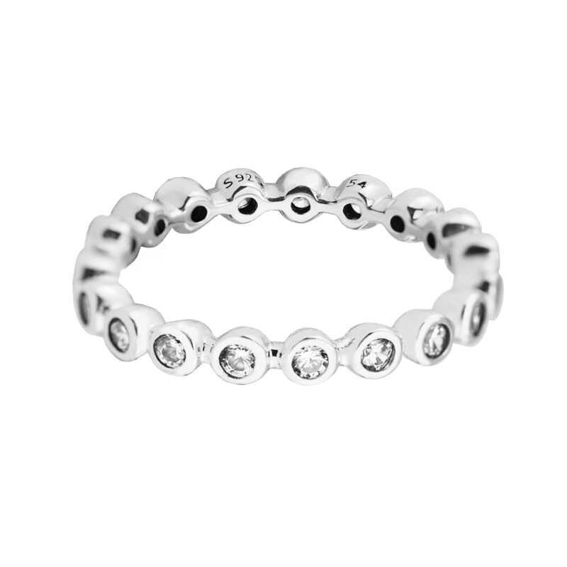 สำหรับแหวน Eternity 100% 925 สเตอร์ลิงเงิน Cz จัดส่งฟรี