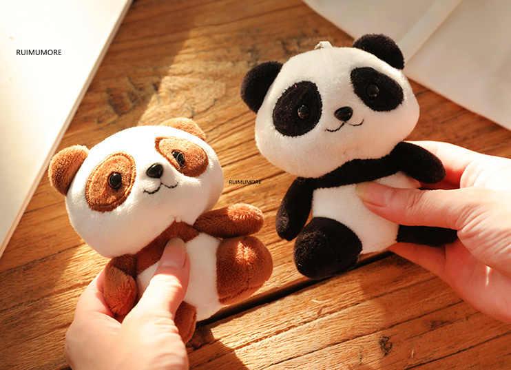 Multi-diseños-lindo 4-10cm nuevos juguetes de peluche Panda, muñecos de peluche Panda Animal, regalo de boda