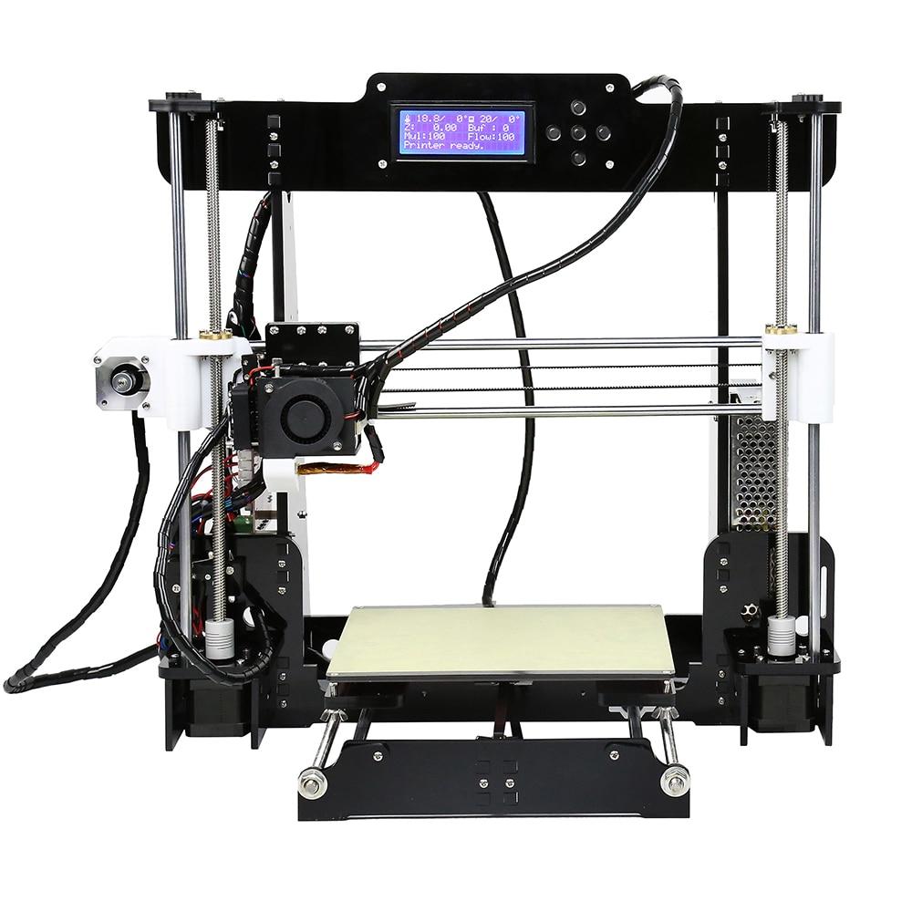 Anet a8 barato impressora 3d de alta precisão reprap prusa i3 kit impressora 3d diy com 10m pla filamento stampante impressora 3d