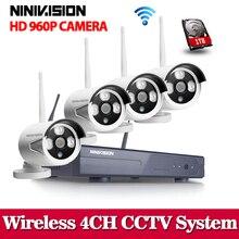 NINIVISION 1.3MP Plug and Play Wireless NVR Kit P2P 960P/720P HD Outdoor IR Night Vision Security IP Camera WIFI CCTV System