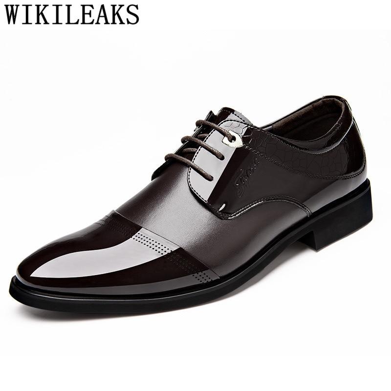 Oxford Shoes For Men Patent Leather Crocodile Shoes Mens Shoes Formal Dress Shoes Men Italian Brand Erkek Ayakkabi Buty Meskie|Formal Shoes|Shoes - title=