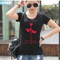 2017 Mujeres del verano T Shirt Depeche Mode Impresión de La Manera de La Camiseta Vestidos Para Niñas Delgado Hip Hop Swag de disfrutar Del Silencio camisetas