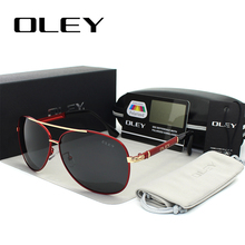 OLEY Luxury sunglasses men polarized Classic pilot Sun glass