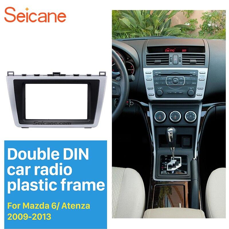 все цены на Seicane 2 DIN Car Radio Fascia for 2009-2013 Mazda 6 DVD Stereo Installation Panel Trim Auto Dash Mount Player Modified Frame онлайн