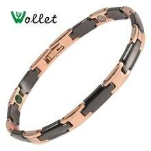Wollet модные ювелирные изделия черный керамический 5 в 1 розовый