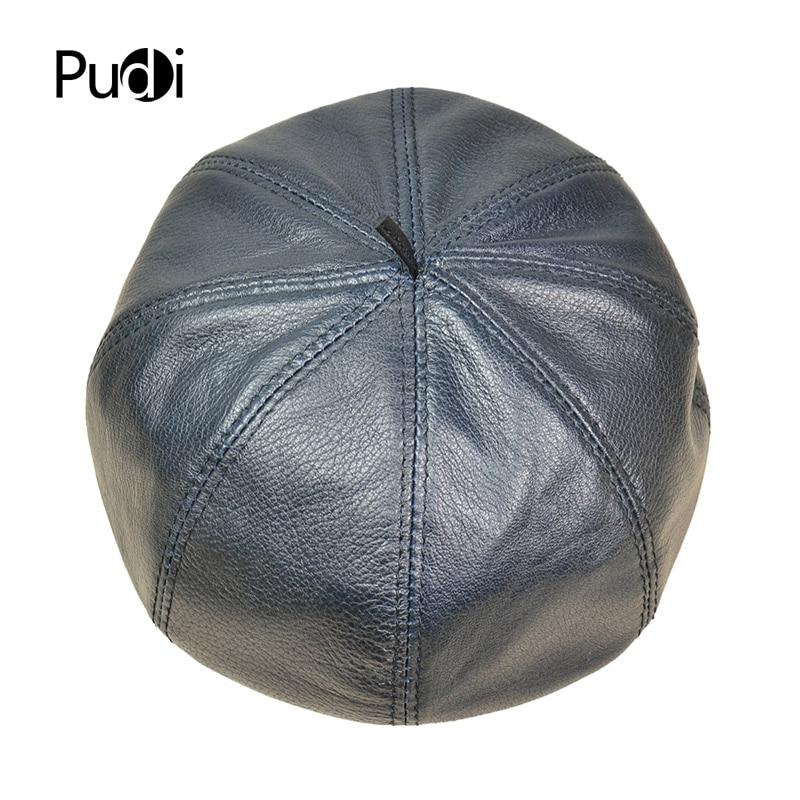 HL017 Pudi envío gratis genuino de cuero de oveja hombre vendedor tapa  octogonal tapa sombrero CBD de la alta calidad de los hombres de sombreros  en ... a7f7d42b3da