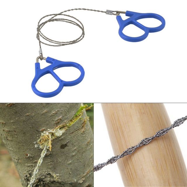 Emergency Survival Gear Outdoor Plastic Steel Wire Saw Ring Scroll Travel Camping Hiking Hunting Climbing Survival Tool