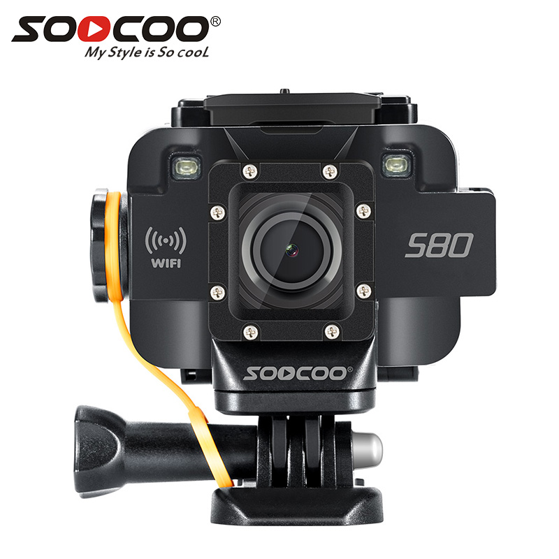 SOOCOO S80 Caméra D'action Étanche mini Vidéo Intégré WIFI sport DV sport caméra Vision Nocturne Starlight externe compatible micro