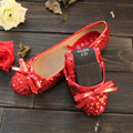 Beautiful Spring And Autumn Women Flats 5 Colors Shoes Red Wedding Bridesmaid Single Korean Flat Large Size Casua Women's Shoes