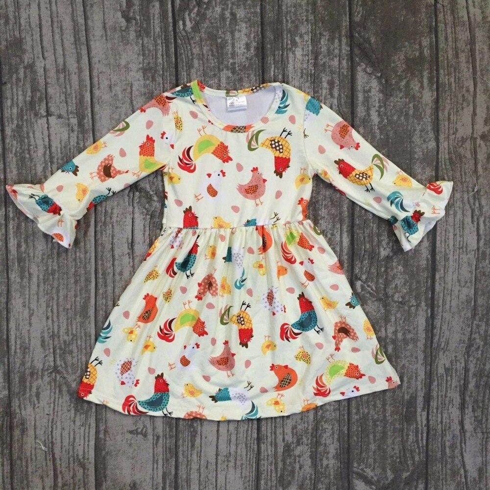 baby girls fall winte Boutique dress clothing children chick dress kids Fall chick dress girls mink silk soft dress
