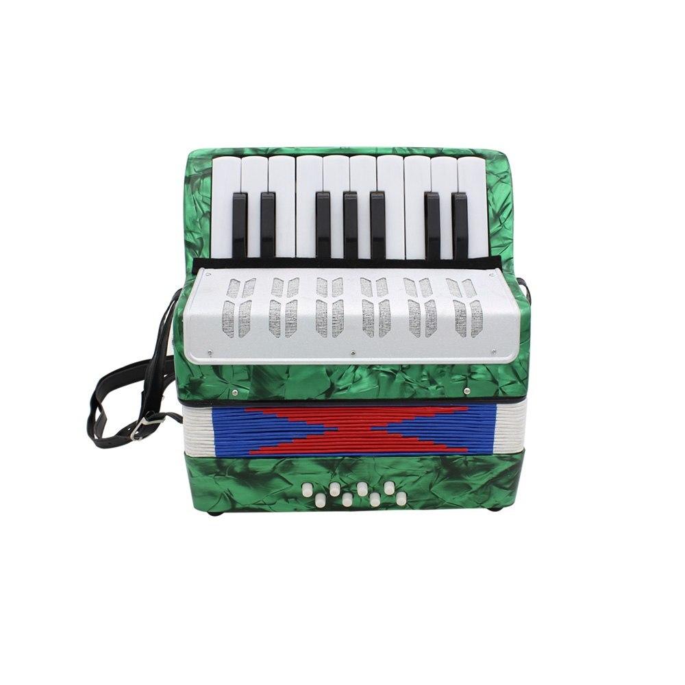 Mini petit 17-Key 8 basse accordéon éducatif Instrument de musique jouet pour enfants enfants Amateur débutant cadeau de noël - 3