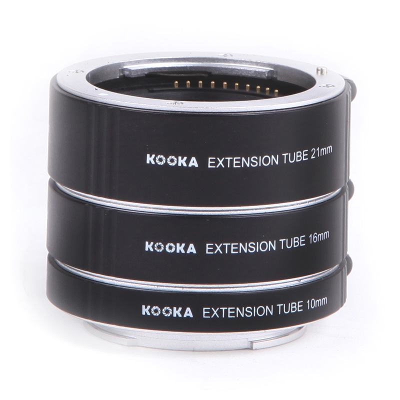Micnova KK-SE47 AF Extension Tube 10mm 16mm 21mm Automatic Tubes for Sony E Mount Camera TTL Close-up Image Front Rear Lens Cap macro extension tube for sony e mount ac ms silver grey