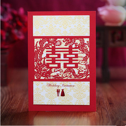 Chinese Style Red Wedding Invitation Card Invitation Engaged Party