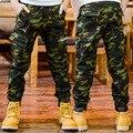 Calças de camuflagem Para Meninos Crianças Roupas de Algodão Bolsos Carta Calças Do Exército Meninos adolescentes Esportes Desgaste 5 7 9 11 12 13 14 anos