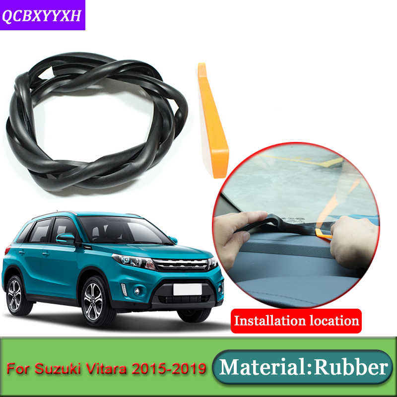 Voiture-style pour Suzuki Vitara 2015-2019 Anti-bruit insonorisé Anti-poussière voiture tableau de bord pare-brise bandes d'étanchéité Auto accessoires