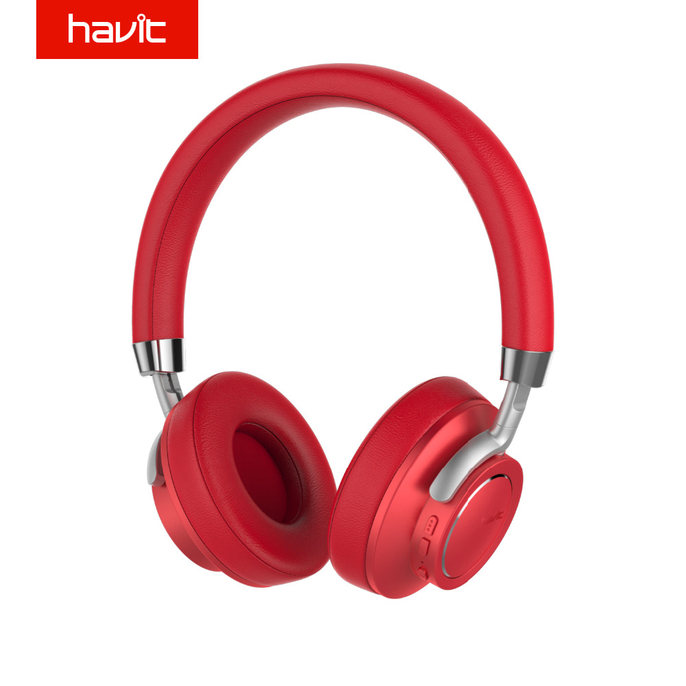 HAVIT Bluetooth 4.1 Headphones Ergonomic Design Noise Cancelling 3D Stereo Headset with Mic for Smartphone Tablet PC Laptop I18