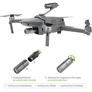 Image 3 - Drone allume la lumière de vol de nuit de projecteur étendue de dessus de corps pour le support de caméra de gopro pour le drone de DJI mavic 2 pro/zoom