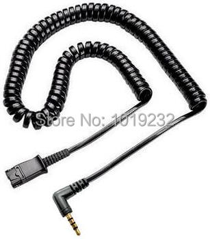 Free Shipping headset QD Quick Disconnect cable with single 3.5mm plug for smartphones mobile phones ,laptop etc plantronics зарядка