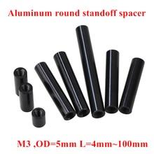 10pcs M3 Aluminum Column post M3*6/8/10/12/15/20/25/30/35/37..100mm Black Aluminum round standoff spacer Spacing screws RC Parts 10pcs m3 5 6 8 10 12 15 20 25 30 35 40 45 50 m3 thread black aluminum round standoff spacer for rc parts