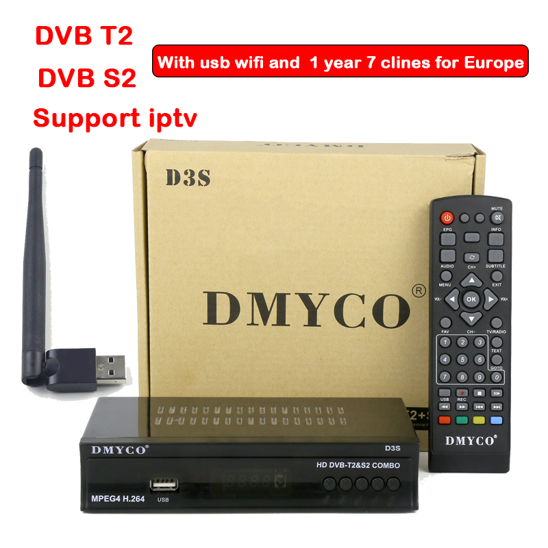 DVB T2+S2 Satellite TV Receiver HD DVB-S2 DVB T2 HD decoder with stable 1 Year Europe clines USB Wifi Youtube for Europe 2017 high quality hd bcm7358 satellite tv receiver ex hd decoder dvb s2 256mb rom and 512mb ddr3