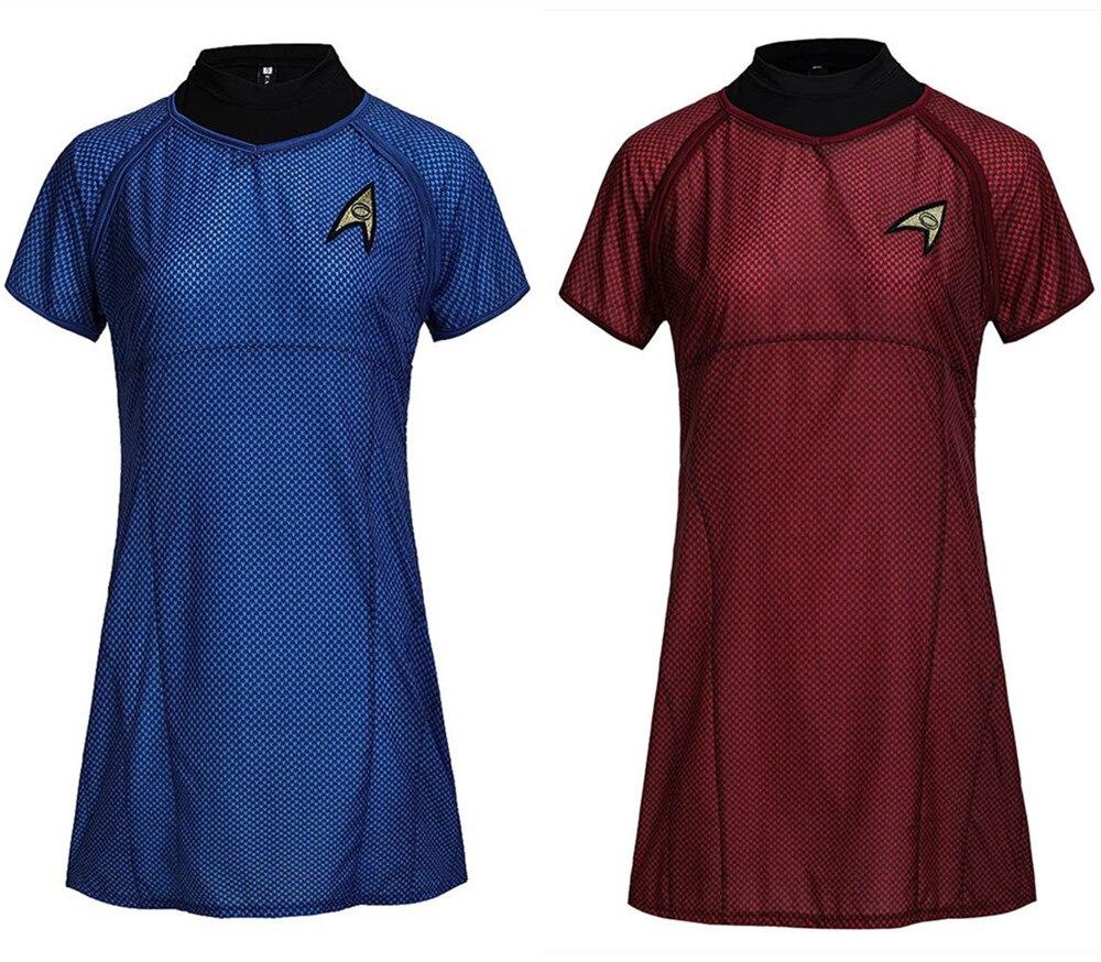 Star Trek Costume Cosplay Into Darkness Fleet Uhura Full Set Blue Dress Uniform Carnival Cosplay women Stewardess Costume
