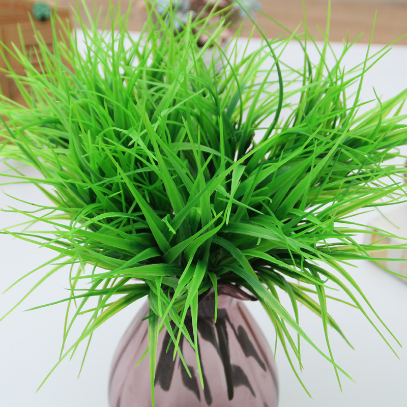 Artificial Green Grass Plastic Plants Fake Grass for Wedding Home Table Garden Decoration