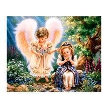 Yikee Алмазная картина полный круглый набор ангелов ручная работа